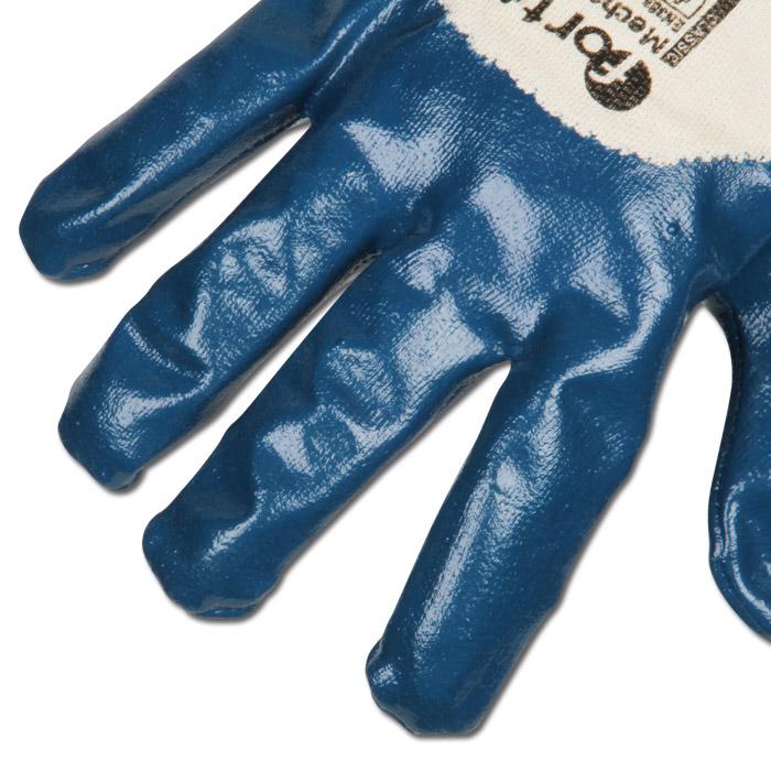 8 Airsoft Bekleidung & Schutzausrüstung FORTIS Nitrilhandschuh Mechanic blue mit Strickbund Gr