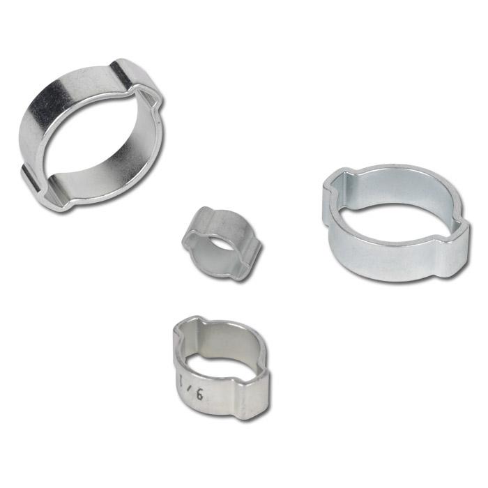 5-7 mm Ohrschlauchschellen 2 Ohr Schellen Ohrschellen Schlauchverbinder NEU