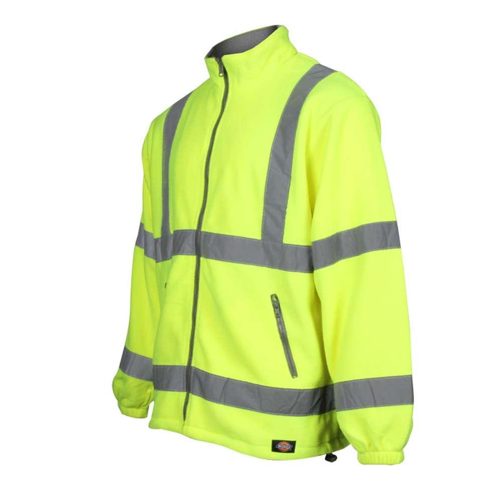 71718501 Høj synlighed fleece jakke - Dickies - EN471 Klasse 3 Niveau 2 - Gul