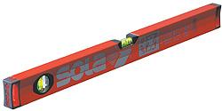 Aluminiumwasserwaage Sola - mit 2 Libellen Länge 40-80 cm - BigX, rot