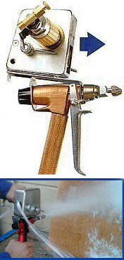 Airless / Gelcoat gun - with removable fiber cutting - 23 400 pistol