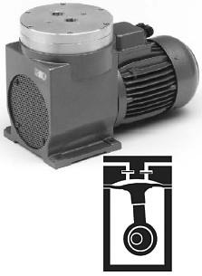 Pompa per vuoto a pressione e membrana - 150 l/min - senza olio, per la mandata