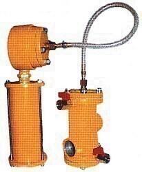 Fjärrstyrningsventil för tryckblästertank - tvådelad