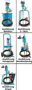 """Airless Spritzsystem """"PROFIT-4222"""" - für niedrig bis mittelviskose Lacke und Las"""