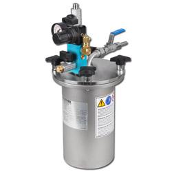 2 Liter - Edelstahl-Materialdruckbehälter - Betriebsdruck 6 bar - Materialausgan