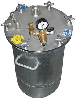 """45 Liter Materialdruckbehälter - Betriebsdruck 6 bar - Materialausgang 3/8"""" oben"""