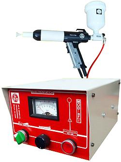 Kleinstmengen-Pulverauftragssystem BF-1 - mit Pulverbecher an der Pistole
