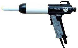 Pulverbeschichtung - Pulverauftrags-Handpistole - mit Flachstrahldüse