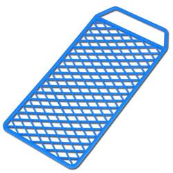 Abstreif-Gitter - Kunststoff - Maße 11 x 20 cm - speziell für Lackdosen - VE 10 Stück - Preis per VE