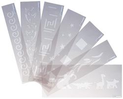 Stencil Test Set - Flexible Plastic Quality Stencils