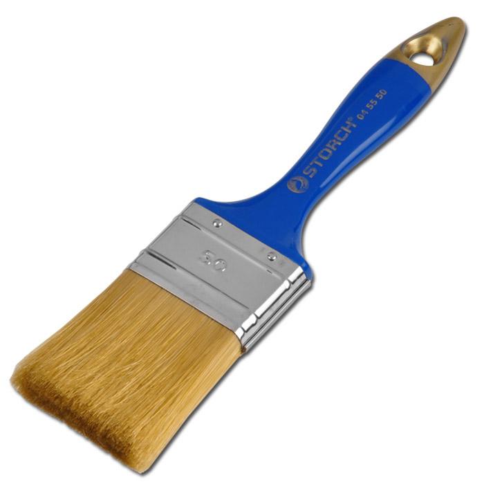 Platt pensel - borst polyester - 25-70 mm bred - standardkvalitet