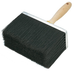 Decken-Bürste - schwarze China-Borste - Maße 180 x 80 mm - Preis per Stück - vulkanisiert