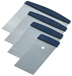 Japanspachtel - Satz - Stahl - 5 bis 12 cm                             mit griff