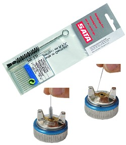 Reinigungsset für Spritzpistolen - 12 Nadeln + versch. Bürsten