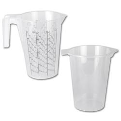 "Mätbägare med insatsbägare ""klein"" - plast - 450 ml"