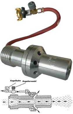 Blästermunstycke för fuktblästring - Ø 6,5-12,5 mm - PN till 12 - volframkarbid