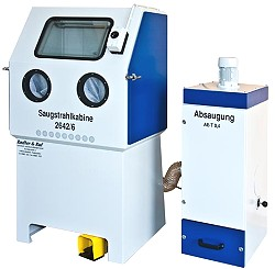 Blästerskåp - sugande bläster - 2642/6 - komplett utrustning