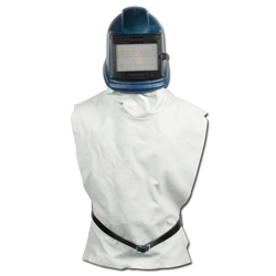 "Plastic Helmet ZGH ""- With Rubber Or Leather Vest - With Forced Ventilation"