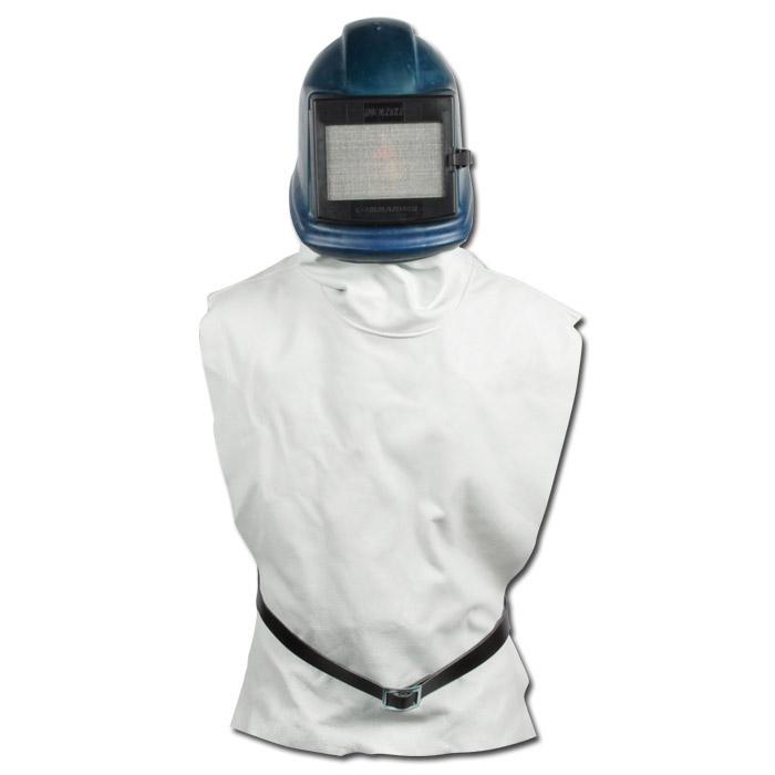 """Plasthjälm """"ZGH"""" - blå - med gummi eller läderväst"""