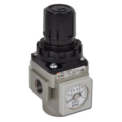 "SMC Pressure Regulator - Up To 8,5 Bar - Flow Rate Up To 5100 l/min  - 1/8"" To 1"