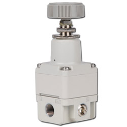 SMC Precision Pressure Regulator - 4.0 bar - Without Gauge - Manually Operated