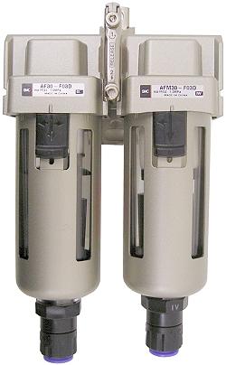 SMC Feinfilter 5µm + Mikrofilter 0.3µm - bis 10bar - bis 1080l/min - für Wandmon