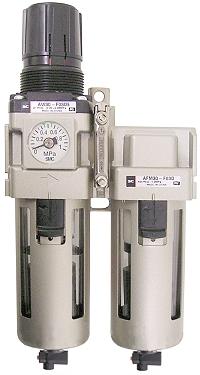 Filter Regulator - 8,5 Bar 3µm + Drop Oiler Manual Drain