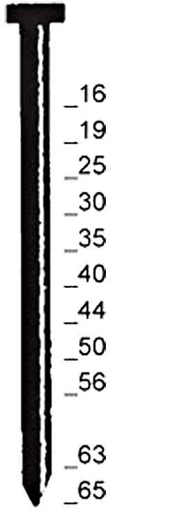 "Stauchkopfnagel ""Typ N"" - verzinkt, VA - 25-65 mm lang"