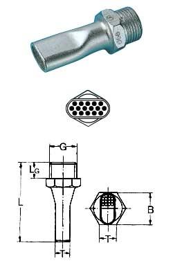 Lechler Lärmarme - Mehrkanal -  Kompakt-Flachstrahldüse - Stahl/PVC
