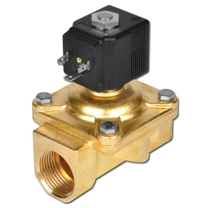 Magnetventil - 2/2-Wege - Druckluft Wasser Öl - 0 bis 12 bar - stromlos geschlos