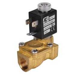 """Magnetventil - 2/2-vägs - Tryckluft, vatten, olja - 15 bar - strömlös öppen - G1/4"""" till 2"""""""