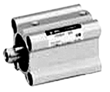 SMC Compact Cylinder - Single Acting - 10 Bar - Spring Retraction - Without Pres