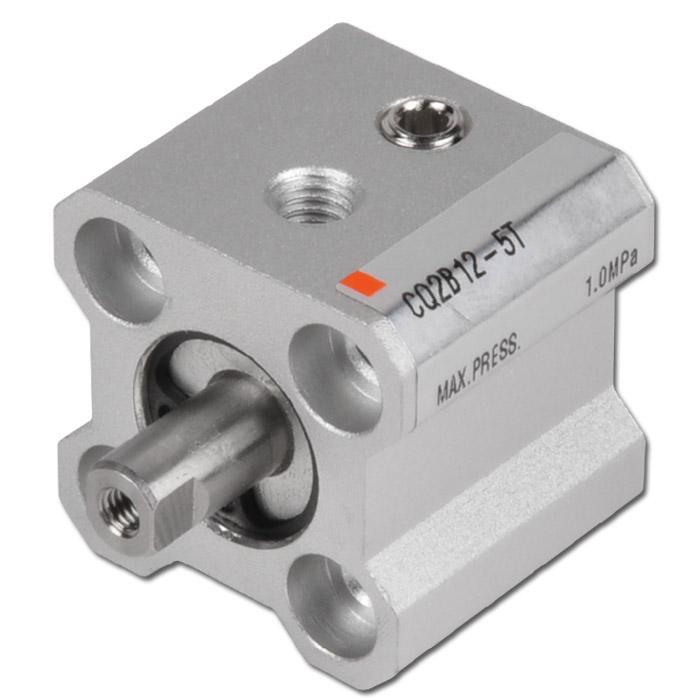 SMC Druckluftzylinder - einfachwirkend - 10 bar - Federkraft ausfahrend - druckl