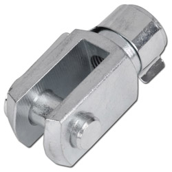 Fork heads - without bolts - steel galvanized/VA 1.4305 - thread M4-M27x2 - for small cylinders ISO 6432, cylinder ISO 15552, Cylinder ISO 6431, compact cylinder and compact cylinder ISO 21287