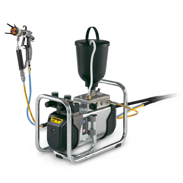 Färgsprutsystem på vagn - med dubbel pump - 2,0 l/min