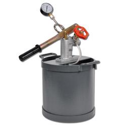 """Provtryckningspump - max 35 bar - med manometer - 1/2"""" - 12 l"""