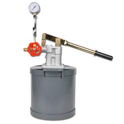 """Provtryckningspump - max 25 bar - med manometer - 3/8"""" - 12 l"""