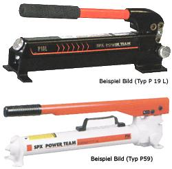 """Handpump - hydraulisk - för enkelverkande cylindrar - 3/8"""" NPT"""