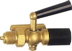 Manometer-Kugelhahn - VA/MS - Prüfflansch n. DIN16263 Muffe/Spannmuffe