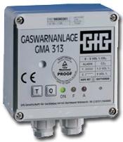 Gasvarnare - GMA 313 - för övervakning av två rum