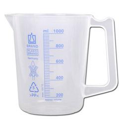 Mätbägare med handtag - 250 till 1000 ml - polypropylen