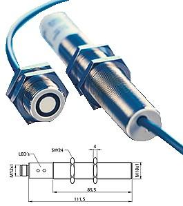 Capteur à ultrasons - plage de fonctionnement 30-250mm