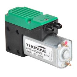 Pompa per vuoto 4002V/1,4/E/LC - pompa per vuoto a mini membrana 6V DC -  fino a  - 600 mbar - 2,0 l/min