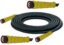 Högtrycksslang NW6 för högtryckstvätt - 225 bar - svart gummi