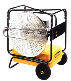 Mini Heater VAL - 32 kW - Vertically Alignable - Operated Oil - Infrared