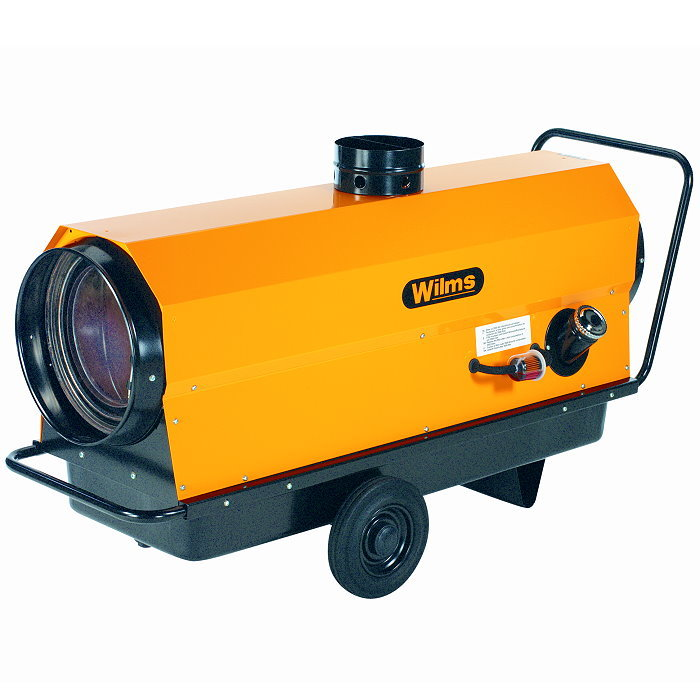 Varmluftsfläkt - oljedriven - 22-150 kW - med avgasledning