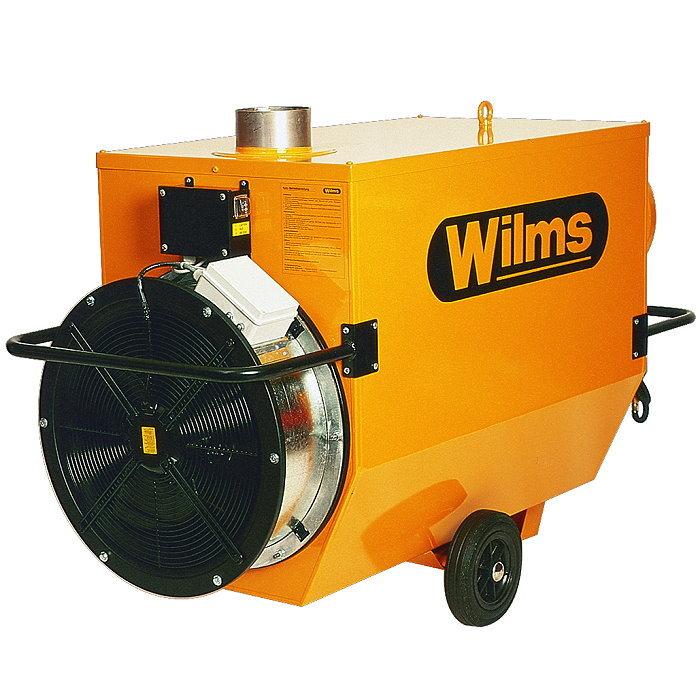 Varmluftsfläkt - 31-110 kW - rökgasutlopp och förhöjd pressning