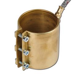 Heizmanschette/ Düsenheizband aus Messing - 48 bis 55 mm Durchmesser - 230V
