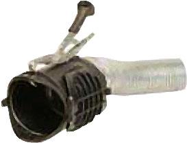 Avgasmunstycke i gummi/metall - rund - lastbil