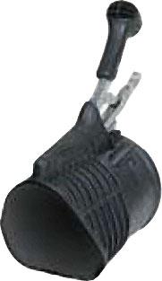 Avgasmunstycke i gummi/metall - triangelformad